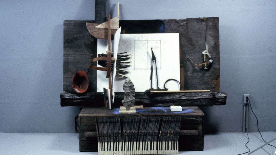 Assemblage with Piano Keys